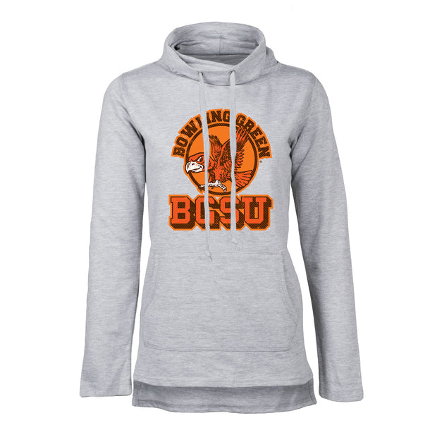 BGSU Bowling Green Falcons Vintage Women's Funnel Neck Hoodie