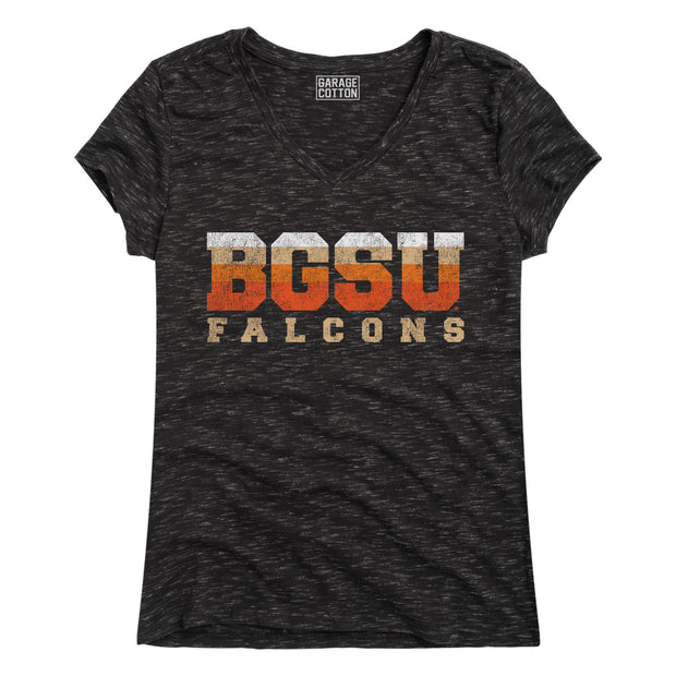 BGSU Bowling Green Falcons Vintage Women's Heathered Short Sleeve T-Shirt
