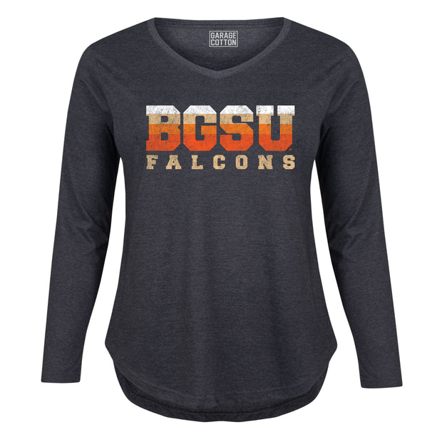 BGSU Bowling Green Falcons Vintage Women's Plus Size Long Sleeve T-Shirt