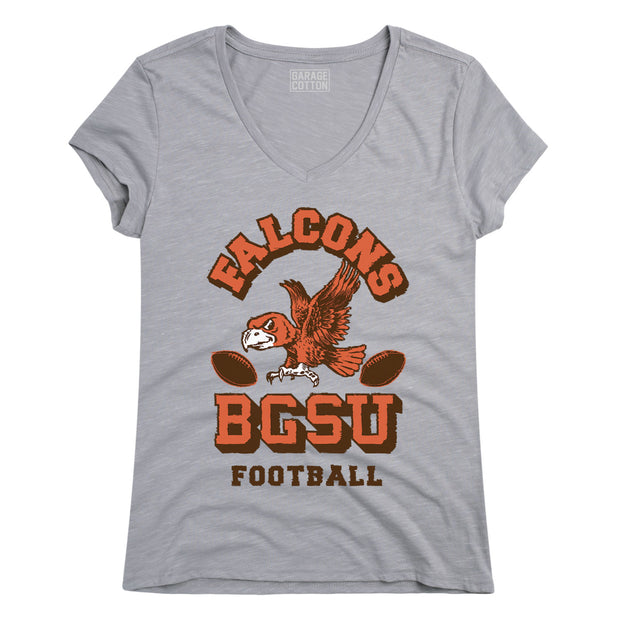 BGSU Bowling Green Falcons Vintage Football Women's Short Sleeve T-Shirt
