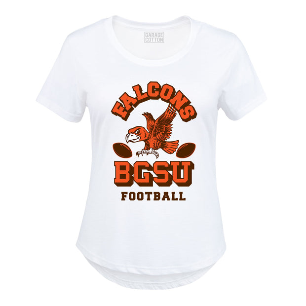 BGSU Bowling Green Falcons Vintage Football Women's Plus Size T-Shirt