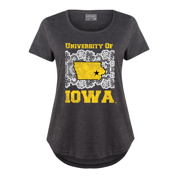 Lace University Of Iowa Women's Plus Size T-Shirt