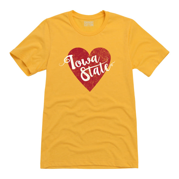 Iowa State Heart Men's Short Sleeve T-Shirt