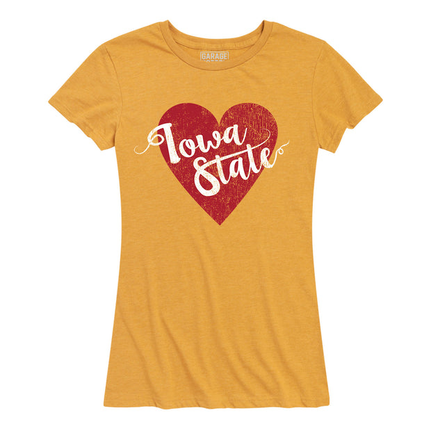 Iowa State Heart Women's Short Sleeve T-Shirt