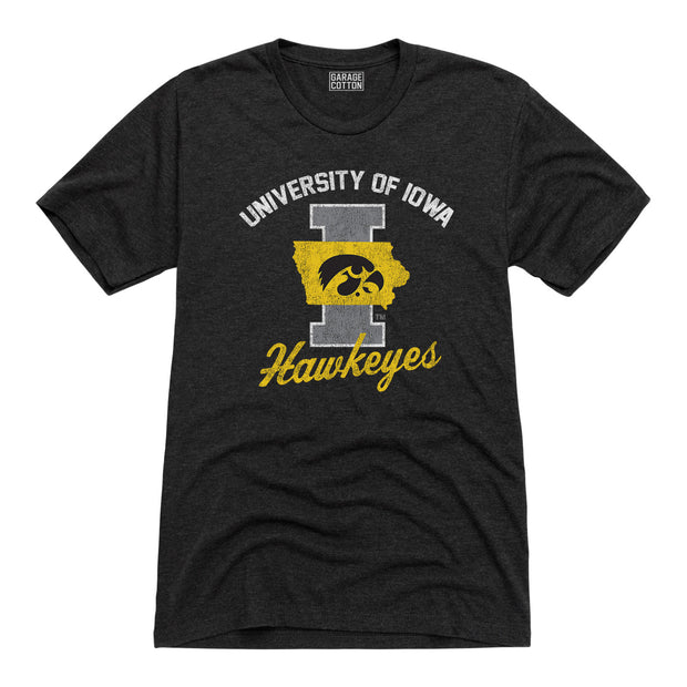University Of Iowa Hawkeyes Men's Short Sleeve T-Shirt