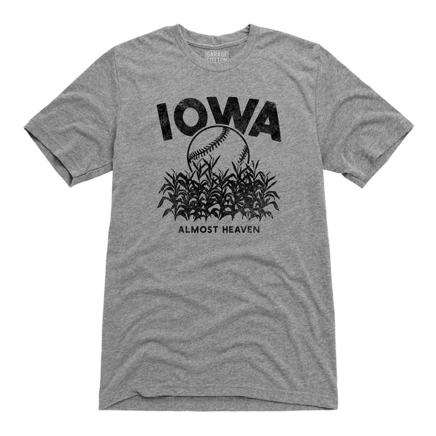 Almost Heaven Iowa Baseball Men's Short Sleeve T-Shirt