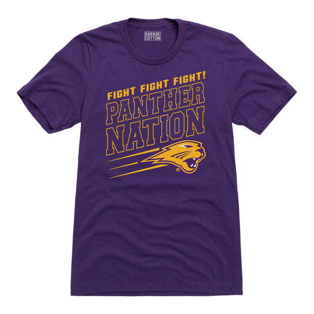 Fight Panther Nation Football Men's Short Sleeve T-Shirt
