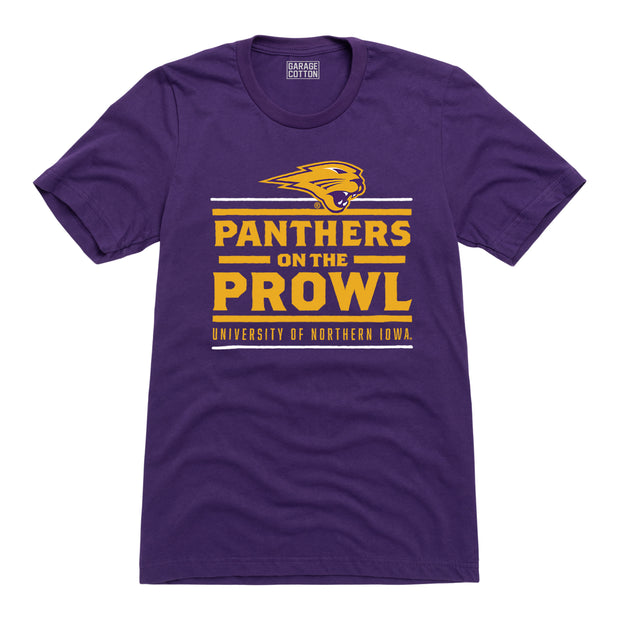 Panthers on the Prowl Northern Iowa Men's Short Sleeve T-Shirt