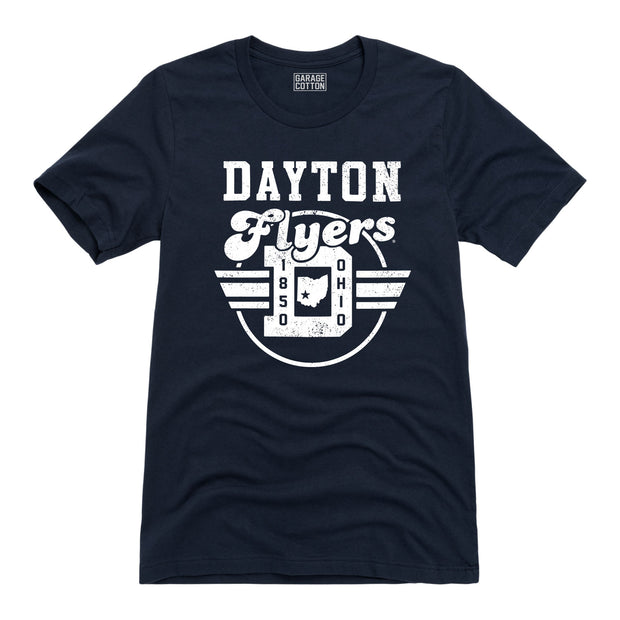 Retro Circle Dayton Flyers - Men's Short Sleeve T-Shirt