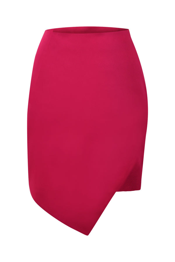 '80s Fairytale Asymmentric Mini Skirt - Pink - Tia Dorraine London