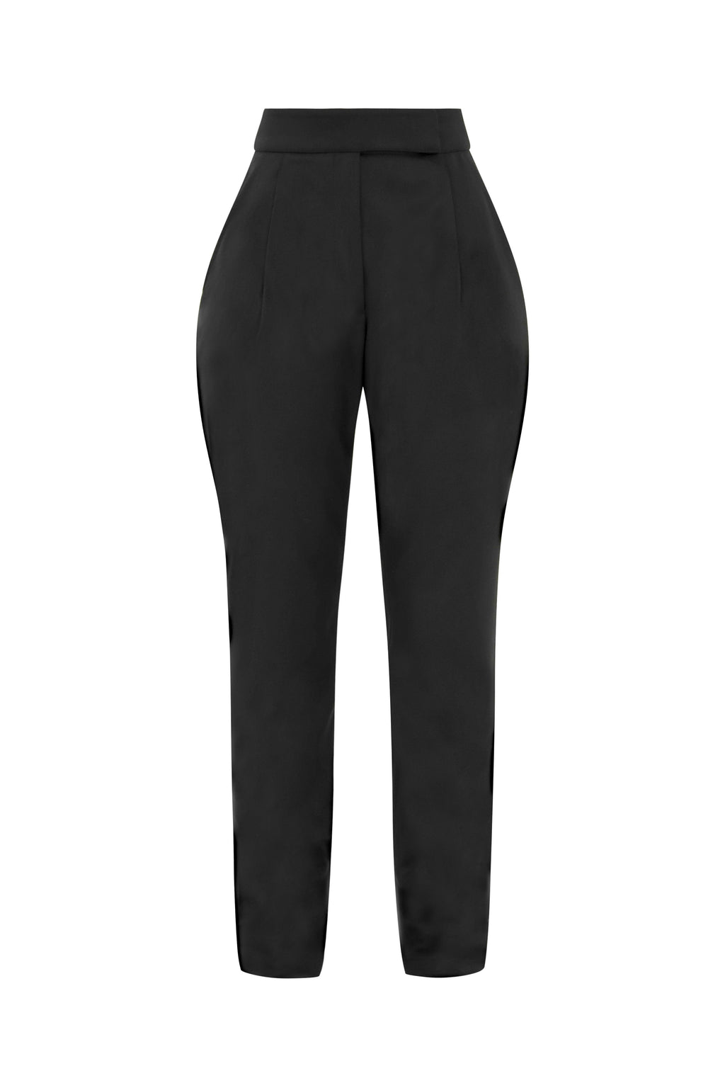 Ahead of Schedule High-Rise Peg Trousers - Tia Dorraine London