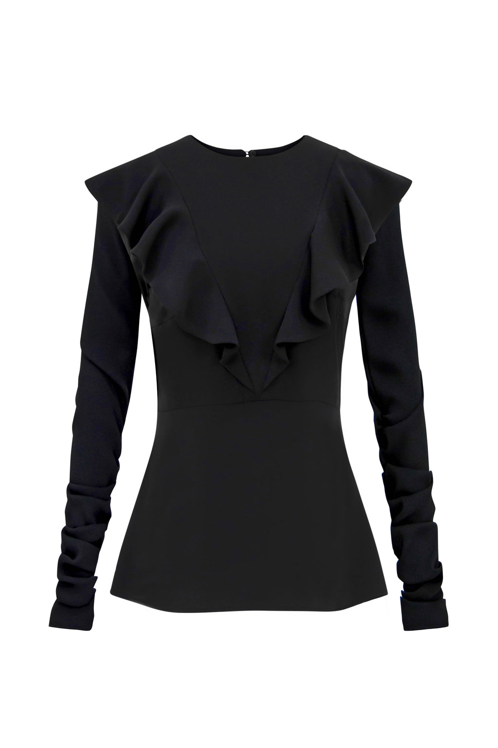 Back on Track Fitted Ruffle Blouse - Tia Dorraine London