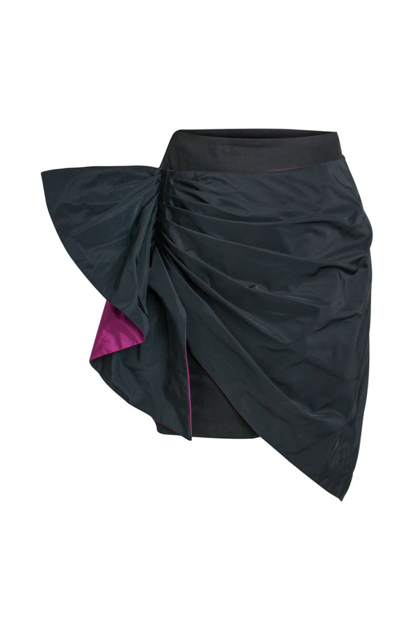 Back to the '90s Asymmentric Mini Skirt - Black - Tia Dorraine London