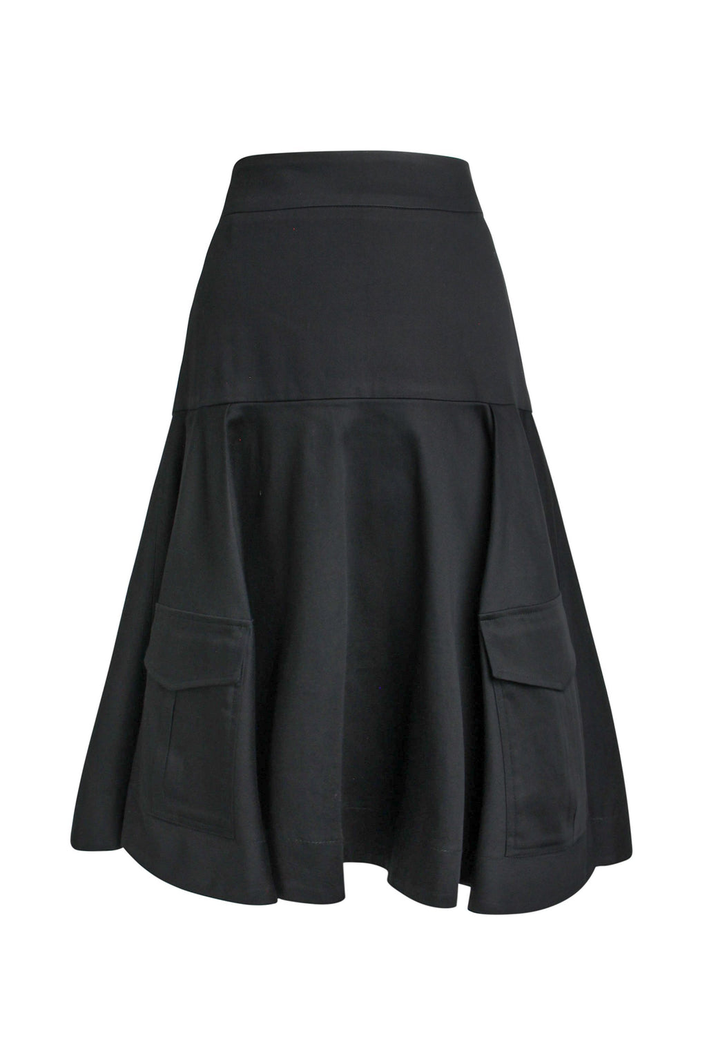 Business Meets Pleasure A-Line Midi Skirt - Black - Tia Dorraine London