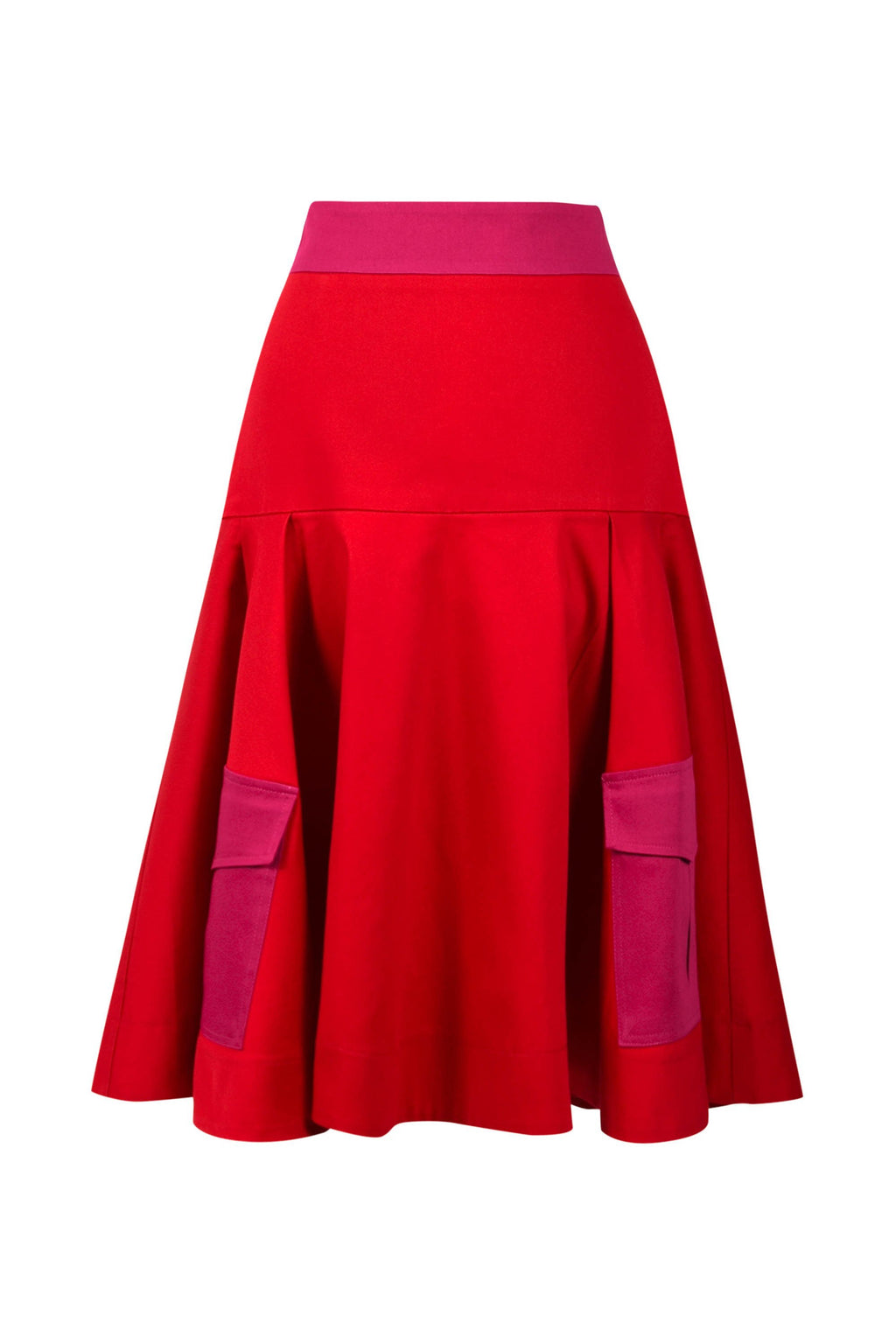 Business Meets Pleasure A-Line Midi Skirt - Red - Tia Dorraine London