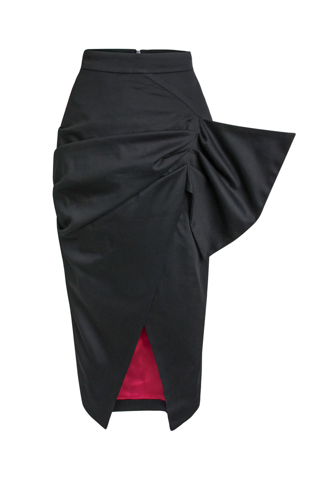 Glam Leisure Bodycon Wrap Midi Skirt - Black - Tia Dorraine London