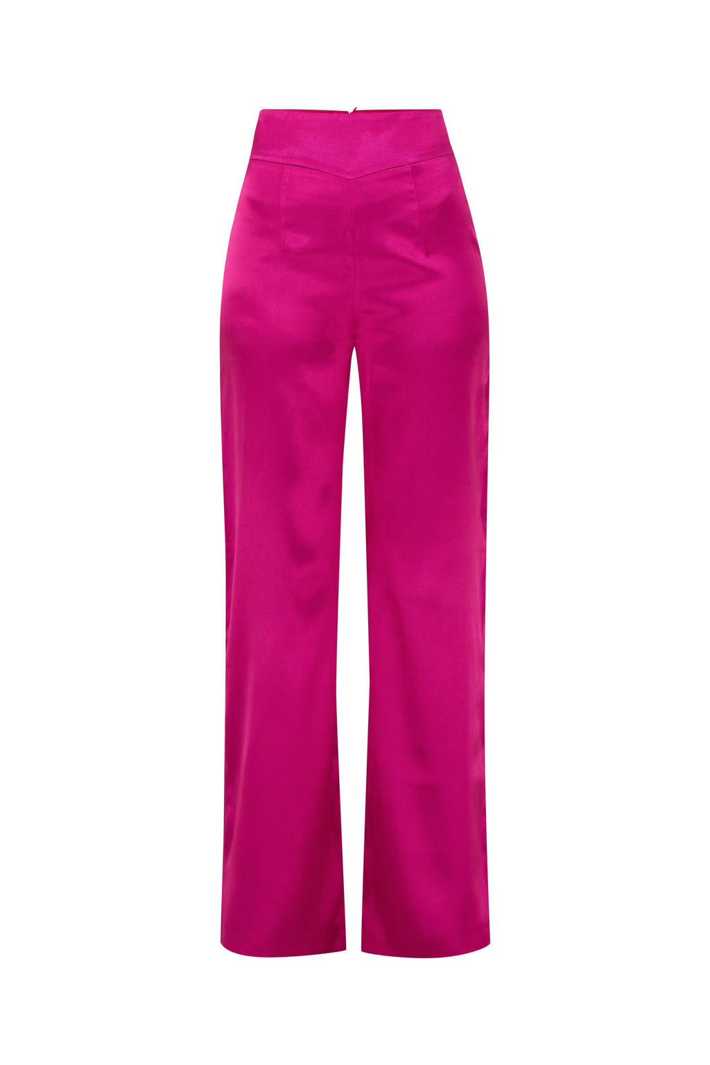 Wild Dream Satin High-Rise Wide-Leg Trousers - Tia Dorraine London