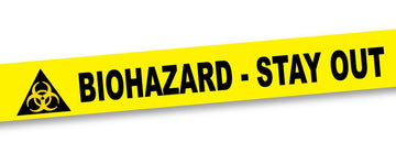 Biohazard Crime Scene Tape - 50 ft roll