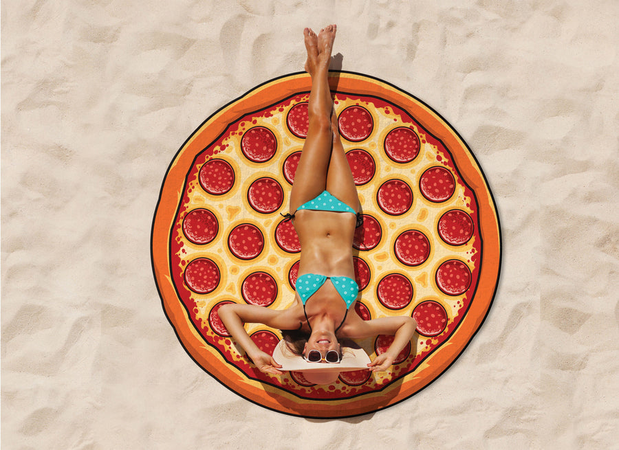 Giant Pizza Beach Blanket