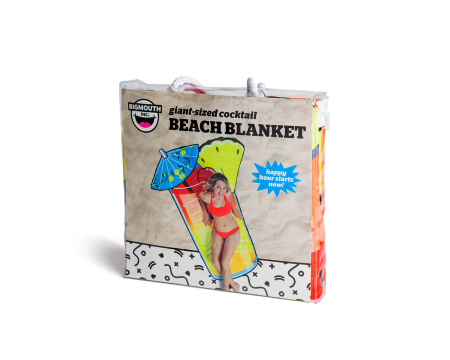 Giant Tropical Drink Beach Blanket