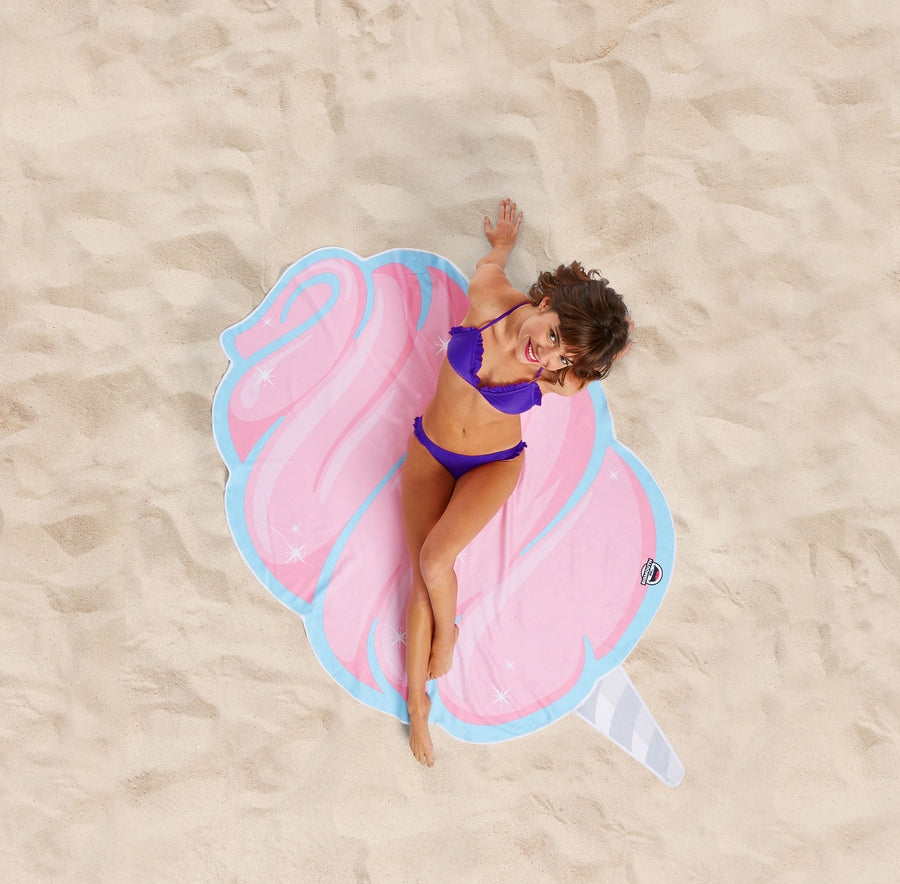 Giant Cotton Candy Beach Blanket