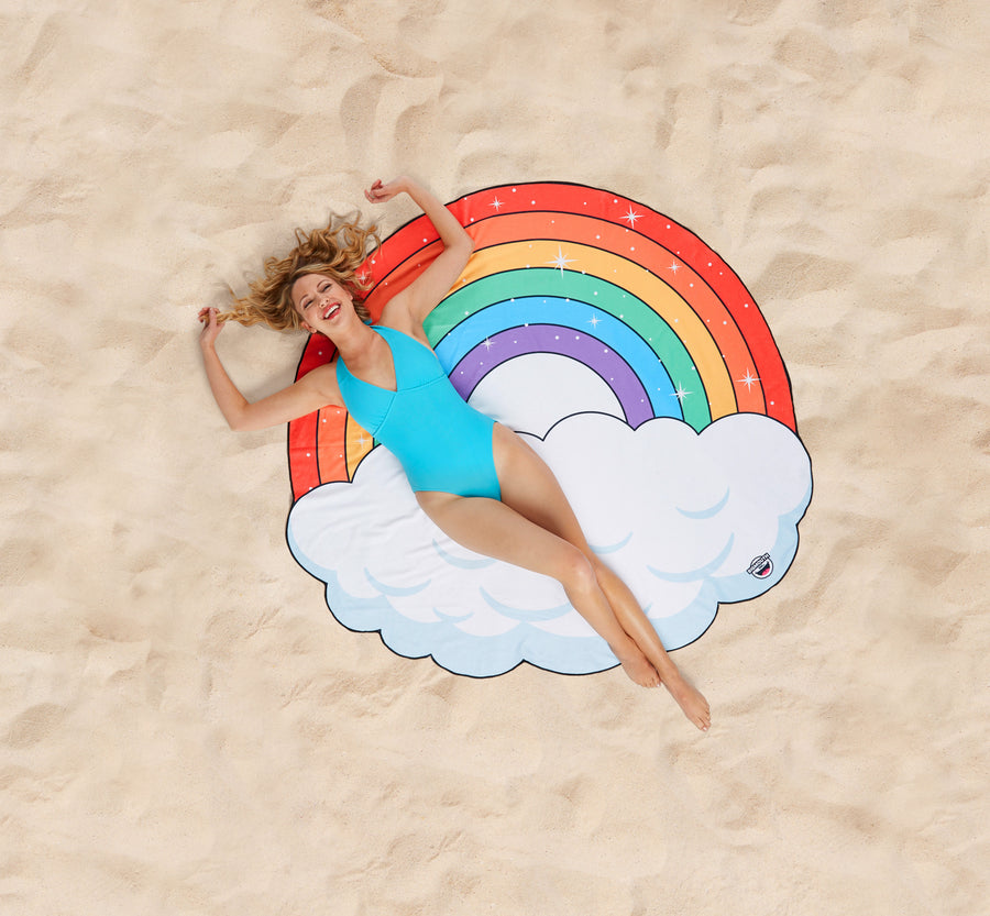 Giant Rainbow Beach Blanket