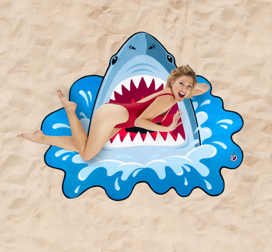 Giant Shark Beach Blanket