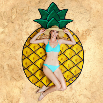 Giant Pineapple Beach Blanket