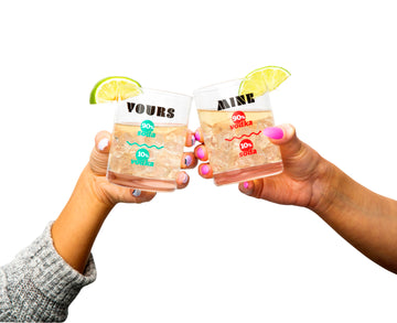Yours & Mine Rock Glass set of 2