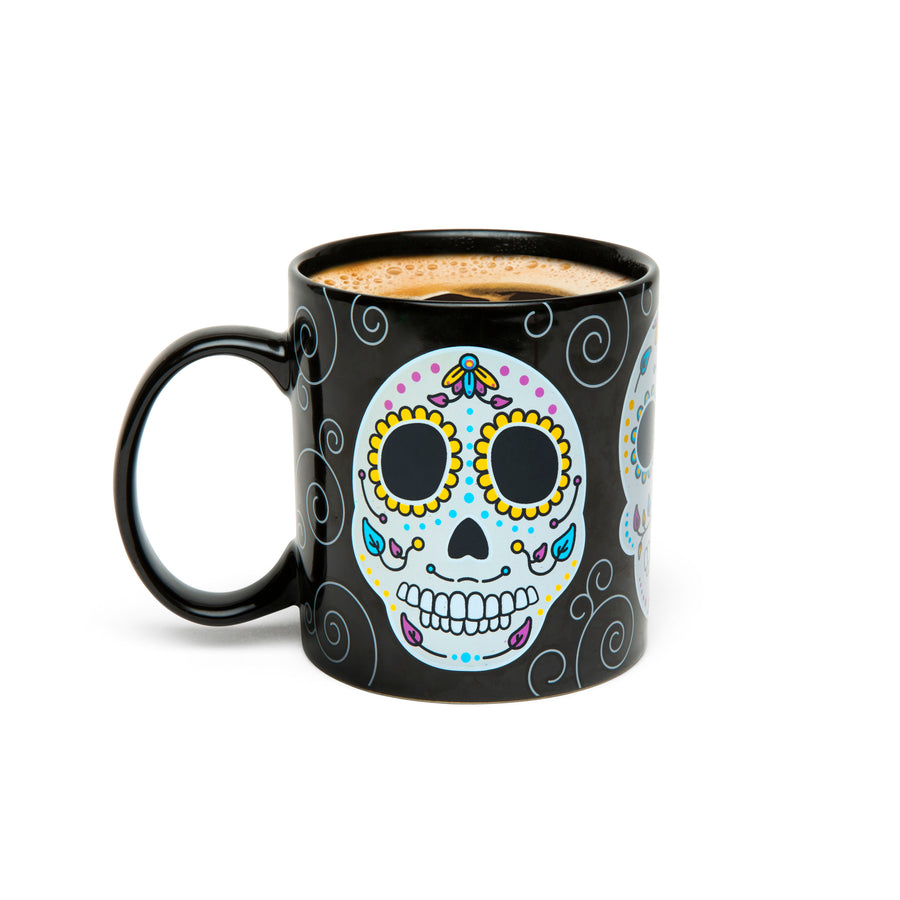 Color Changing Sugar Skull Mug