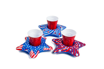 Patriotic Stars Beverage Boats (3-Pack)