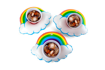 Happy Rainbow Beverage Boats (3-Pack)