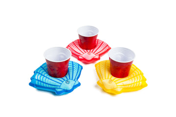 Summer Seashell Beverage Boats (3-Pack)