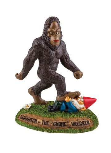 The Sasquatch Gnomewrecker Garden Statue