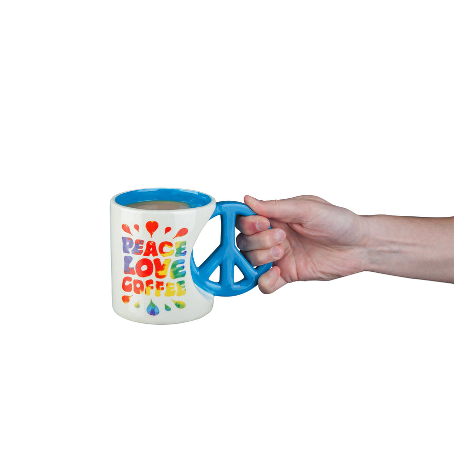The Peace Love Coffee Mug
