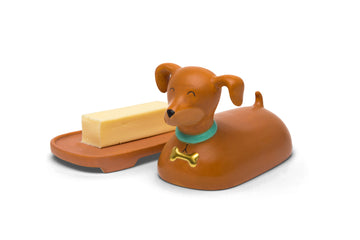 Ceramic Weiner Dog Butter Dish