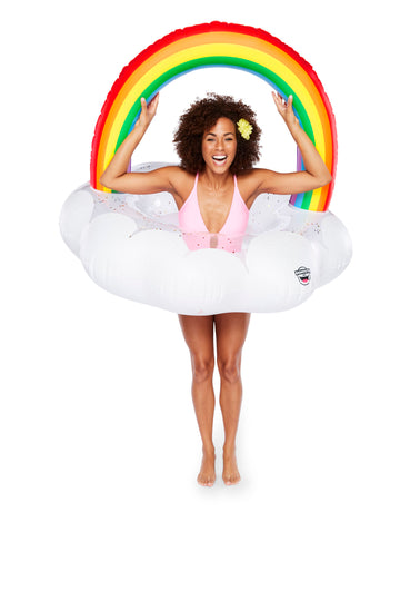 Giant Rainbow Cloud Pool Float