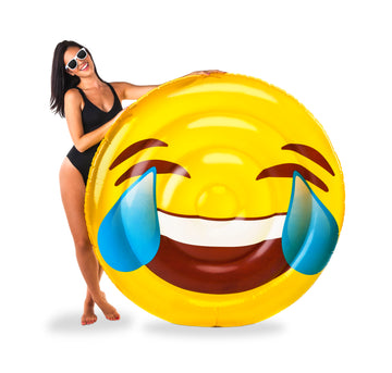 Giant Tears of Joy Emoji Pool Float
