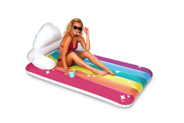 Giant Rainbow Lounger Pool Float
