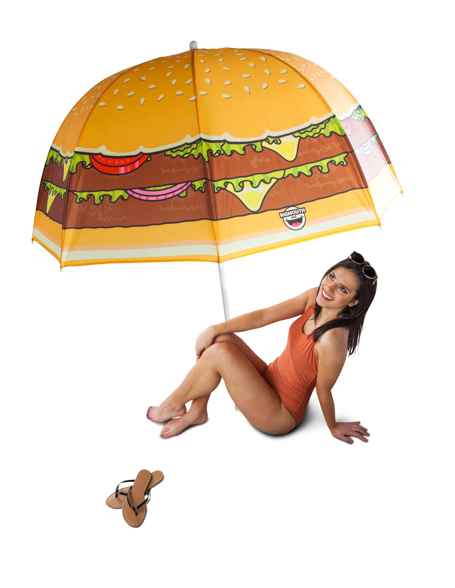 Cheeseburger Beach Umbrella