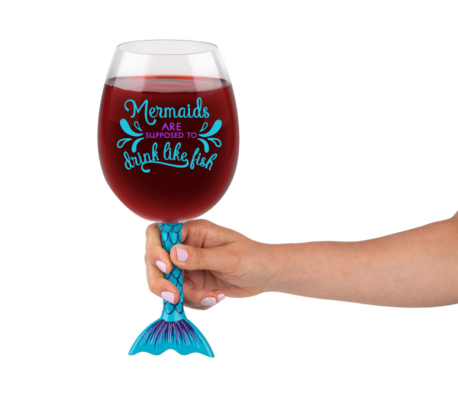 The Mermaid Tail Wine Glass