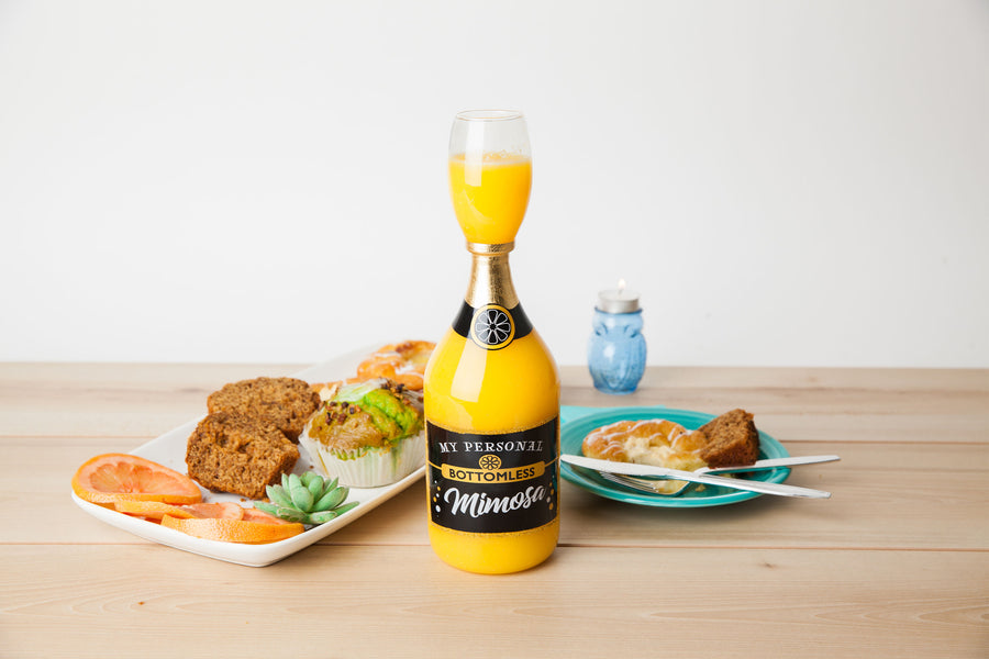 The Bottomless Mimosa Glass