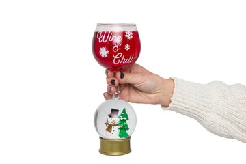 Snow Globe Wine Glass