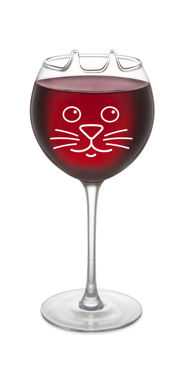 The Purrfect Pour Wine Glass