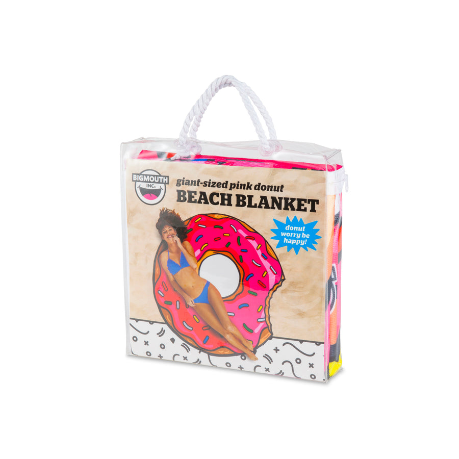 Giant Frosted Donut Beach Blanket
