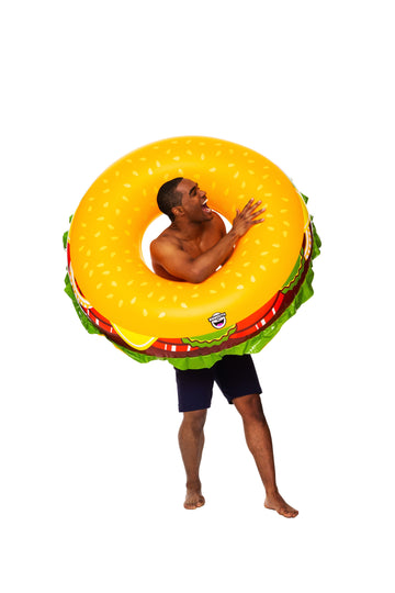 Giant Cheeseburger Pool Float