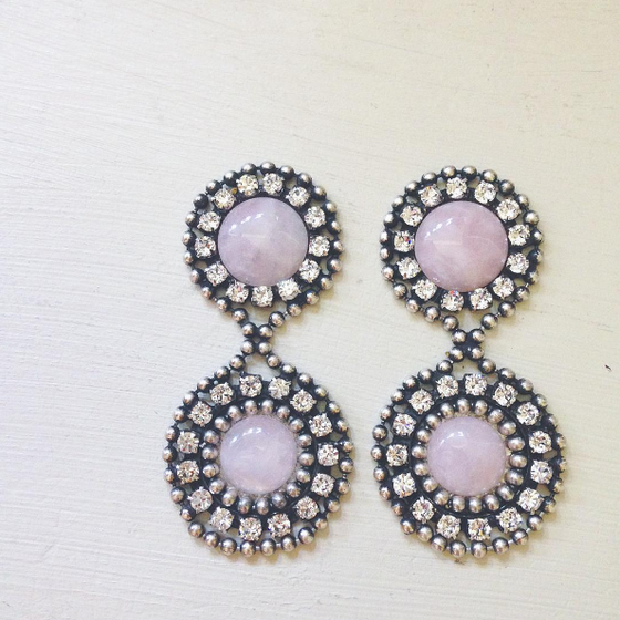 Haydon Earrings in Rose Quartz