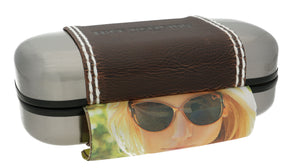 True Religion Sunglasses Case and Lense Cloth 15cm x 7cm x 5cm