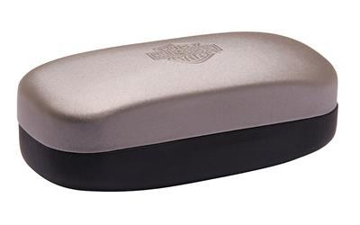 SUNGLASSES CASE SILVER BLACK