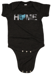 Unisex Ohio Home Light Blue Onesie - Charcoal